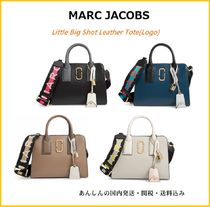 MARC JACOBS【国内発送】Little Big Shot Leather Tote ロゴ入り