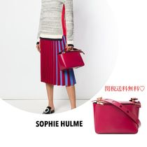 関送込 新作  SOPHIE HULME boxy top zip satchel レッド レザー