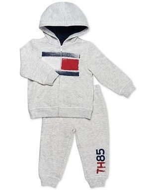 Tommy Hilfiger 2-Pc. Zip-Up Hoodie & Pants Set