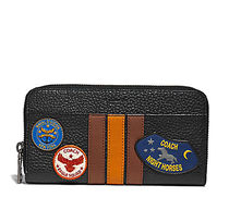 ☆COACH☆ACCORDION WALLET  VARSITY STRIPE MILITARY PATCHES