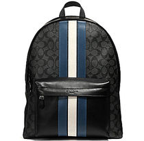 ☆COACH☆CHARLES BACKPACK IN SIGNATURE WITH VARSITY STRIPE