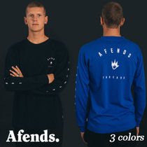 AFENDS(アフェンズ) Tシャツ・カットソー ☆AFENDS☆ThreadsロングTシャツ/3色/袖ロゴバックプリント