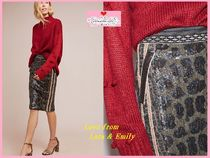 完売必須【Anthro】Byron Lars Sequin Leopard Pencil Skirt