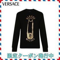 18AW新作◆VERSACE◆SAFETY PIN ブラックスウェット