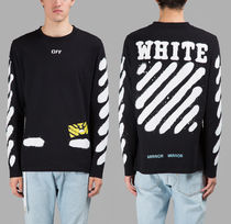 即発送 OFF WHITE SPRAY DIAGONALS S/S TEE