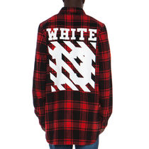 即発送 OFF WHITE 13 LOGO FLANNEL CHECK SHIRT