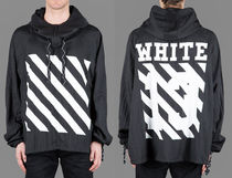 即発送 OFF WHITE 13 LOGO DIAGONALS WIND BREAKER ANORAK