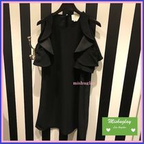 【kate spade】復刻★素敵♪ 肩出しcold shoulder crepe dress★