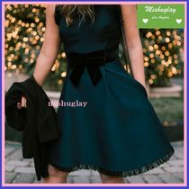 【kate spade】復刻★上品なvelvet bow fit and flare dress★