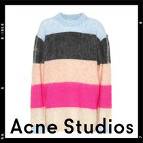 【Acne Studios】Albah striped mohair-blend sweater