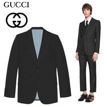 18AW【GUCCI】Giacca Mitford in lana gessataジャケット スーツ