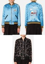 関税無【Coach】Women's Reversible California Varsity Jacket