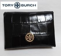Tory Burch   クロコ型押し  コンパクト 二つ折り  カードケース