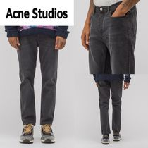 新作!Acne Studios  River Used Denim in Black