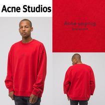 新作!Acne Studios  Sweatshirt in Tomato Red
