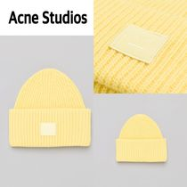 新作!Acne Studios  Pansy N Face Hat in Pale Yellow