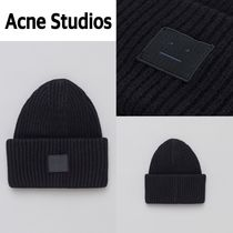 新作!Acne Studios  Pansy L Face Hat in Black