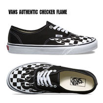 VANS★AUTHENTIC CHECKER FLAME★兼用