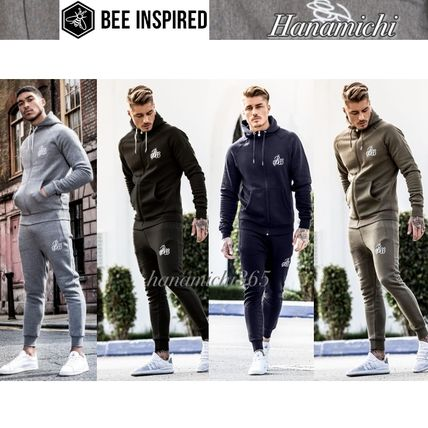 Bee Inspired Clothing セットアップ 7色☆Bee Inspired*ロゴ/ZIP フーディー/ジョガー*セットアップ