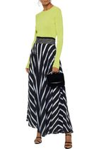 DIANE VON FURSTENBERG Striped woven maxi skirt スカート