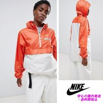 Nike Sb Logo Wind Breaker In Orange Colour Block♪