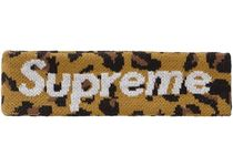 18AW /Supreme New Era Big Logo Headband ヘッドバンド Leopard