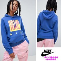 Nike 90S Hoody With Graphic Logo In Blue♪