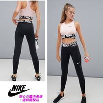 Nike Pro Training Crossover Leggings In Black And Pink♪
