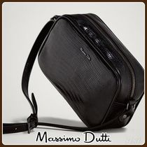 MassimoDutti♪MOCK CROC LEATHER CROSSBODY BAG