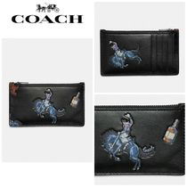【COACH】☆18-19AW新作☆ Zip Card Case With Rodeo Print