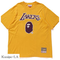 注目コラボ! Bape x Mitchell & Ness Lakers Tシャツ