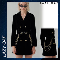 LAZY OAF G.E.M Velvet Blazer Dress ブレザー ドレス ブラック