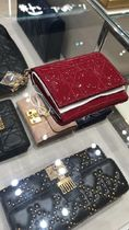 ★2018最新作DIOR★Lady Dior Lotus wallet red patent Cannage