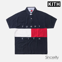 KITH TOMMY HILFIGER FLAG S S POLO / NAVY / SMALL