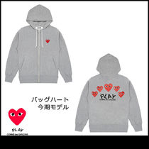 PLAY COMME des GARCONS グレーパーカー バッグ 今期モデル