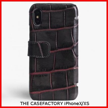 THE CASE FACTORY スマホケース・テックアクセサリー 関税送料込☆THE CASEFACTORY☆IPHONE X/XS CARDCASE CROCODILE