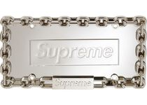 18AW /Supreme Chain License Plate Frame ナンバープレート 銀