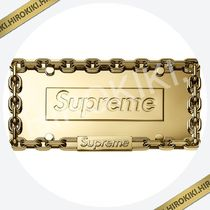 18AW /Supreme Chain License Plate Frame ナンバープレート 金