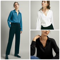 Massimo Dutti【NEW】COMBINED TOP WITH SHIRT COLLAR