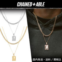 Chained&Able★プレーン TAG LAYERパックネックレス★クーポン付