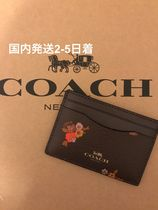 国内発送2-5日着☆COACH  BABY BOUQUET FLAT CARD CASE 花柄