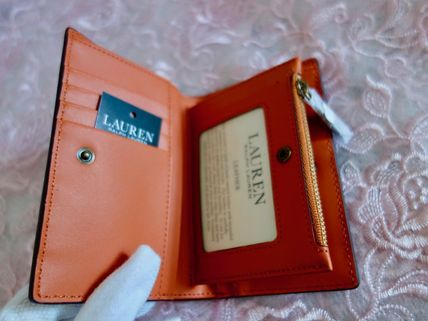 Ralph Lauren 折りたたみ財布 国内発 Lauren Ralph Lauren Dryden Smooth Zip Wallet ミニ財布(8)
