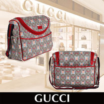 "GUCCI Baby ""GG"" Rainbow and Doll Print Changing Bag"