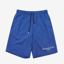 送料関税込!2019AW新作 GIVENCHY Logo Print Swim Shorts