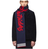 Band of Outsiders(バンドオブアウトサイダーズ) マフラー 【送料関税込み】Band of Outsiders NAVY ALPINE BAND SCARF