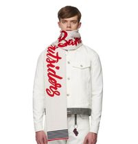 Band of Outsiders(バンドオブアウトサイダーズ) マフラー 【送料関税込み】Band of Outsiders WHITE ALPINE BAND SCARF