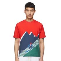 Band of Outsiders(バンドオブアウトサイダーズ) Tシャツ・カットソー 【送料関税込み】Band of Outsiders RED/GREEN SKIER PRINT