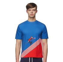 Band of Outsiders(バンドオブアウトサイダーズ) Tシャツ・カットソー 【送料関税込み】Band of Outsiders BLUE/RED SKIER PRINT