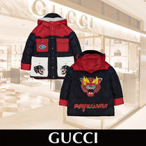 GUCCI Boys Tricolor Padded Jacket Flaming Tiger 関税送料込