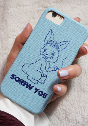 SKINNYDIP iPhone・スマホケース 【2018AW新作】☆SKINNY DIP☆SCREW YOU☆iPhoneケース(4)